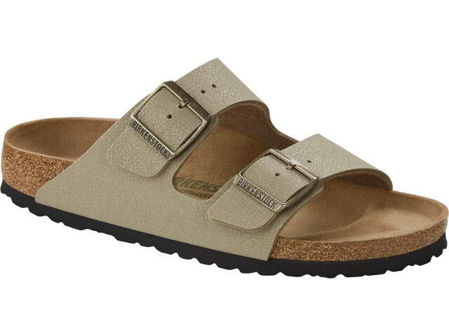 Birkenstock Arizona Sandals Birko-Flor Birkibuc Earthy Vegan Narrow Women faded khaki